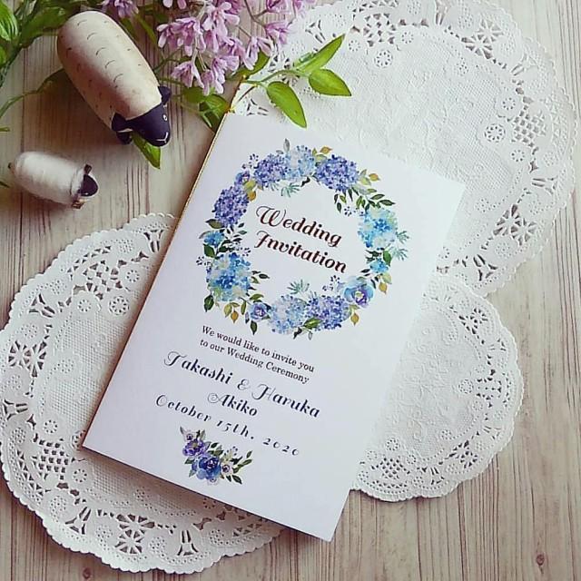 結婚式招待状返信 アート シール
