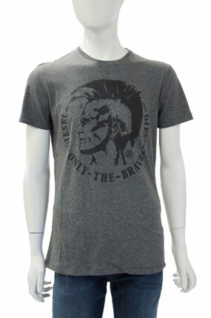 ディーゼル DIESEL Tシャツ 半袖 丸首 T-SNAPS-RS...