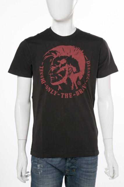 ディーゼル DIESEL Tシャツ ブラック メンズ (00S...