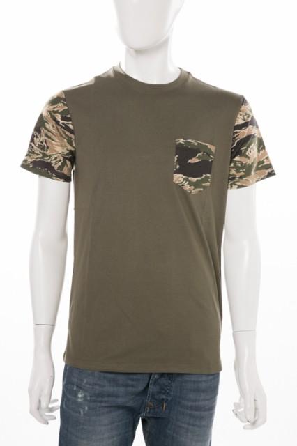 ディーゼル DIESEL Tシャツ カーキ メンズ (00STF...