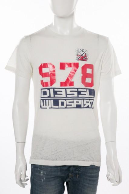 ディーゼル DIESEL Tシャツ アイボリー メンズ (0...