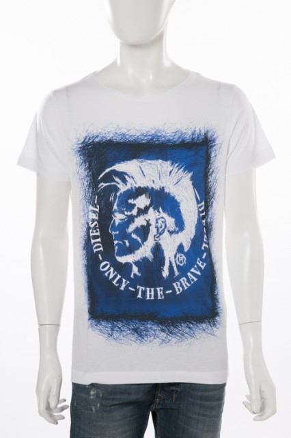 ディーゼル DIESEL Tシャツ ホワイト メンズ (00S...