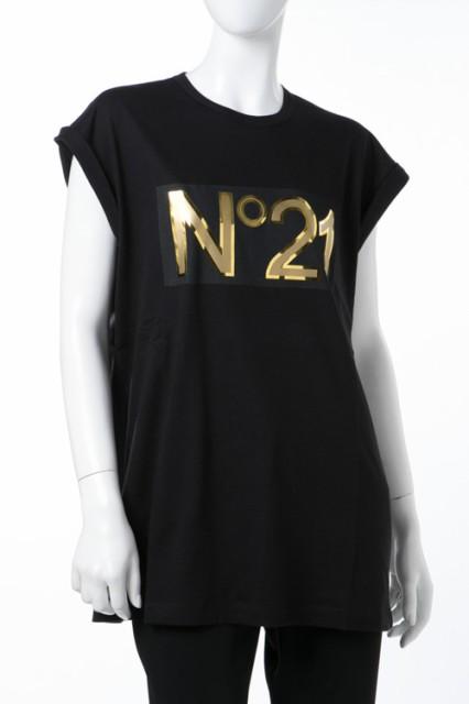 ヌメロヴェントゥーノ N°21 Tシャツ ブラック レ...
