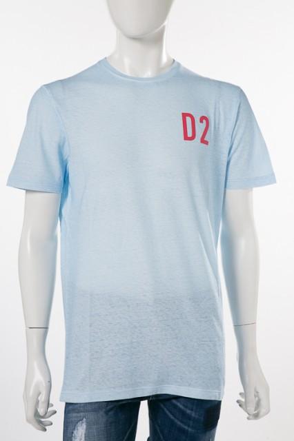 ディースクエアード DSQUARED2 Tシャツ ライトブ...