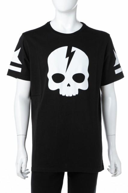 ハイドロゲン HYDROGEN Tシャツ ブラック×ホワイ...