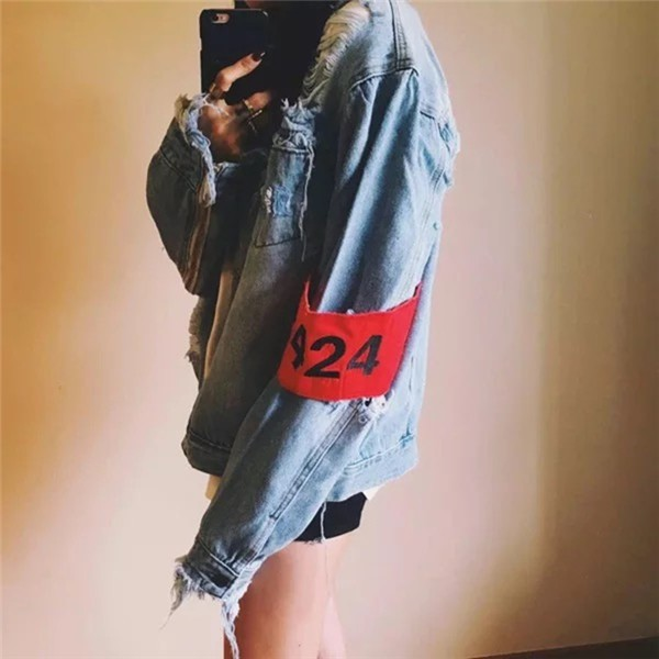 韓国 ストリート系 B系 K,POP ファッション 春 HIPHOP デニム アウター レディース 韓国 ファッション