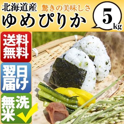 北海道 無洗米  1等米 100% ゆめぴりか 5kg 平成...