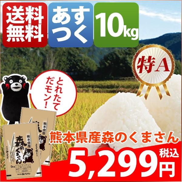 お米 10kg 安い 熊本県 白米 森のくまさん 10キロ...
