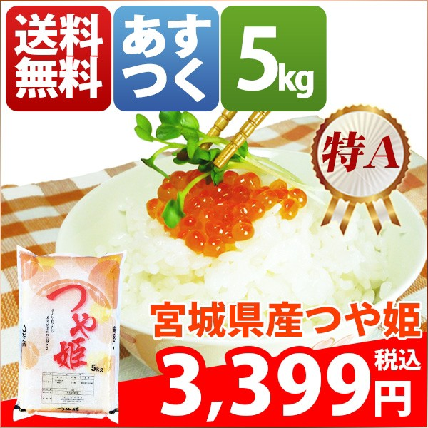 お米 5kg 安い 1等米 宮城県 白米 つや姫 5キロ 2...