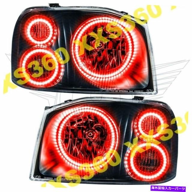 USヘッドライト 日産フロンティア01-04赤トリプル...