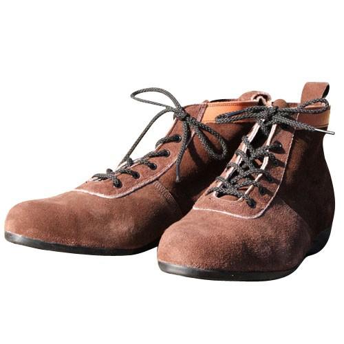 椿モデル 安全靴 ショートタイプ 茶 24.5cm (L52)...
