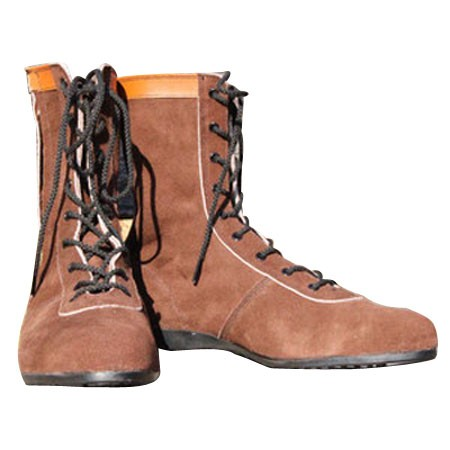 椿モデル 安全靴 茶 26.5cm (L53C) 牛ベロア革 AG...