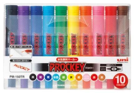 三菱鉛筆 サインペン プロッキー PM-150TR 10色セ...