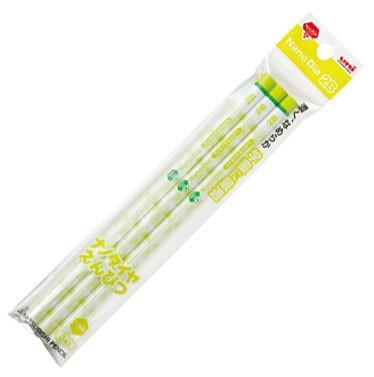 三菱鉛筆 ナノダイヤ鉛筆 6591 NDST 緑 2B 3本パ...