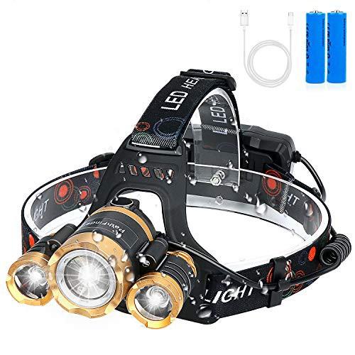 LEDヘッドライト usb充電式 12000ルーメン センサ...