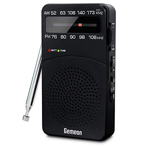 携帯ラジオAM/FMポータブルラジオ 小型ラジオ 電...