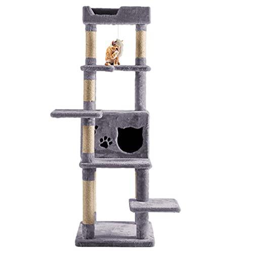 キャットタワー 据え置き 猫タワー 猫のおもちゃ ...