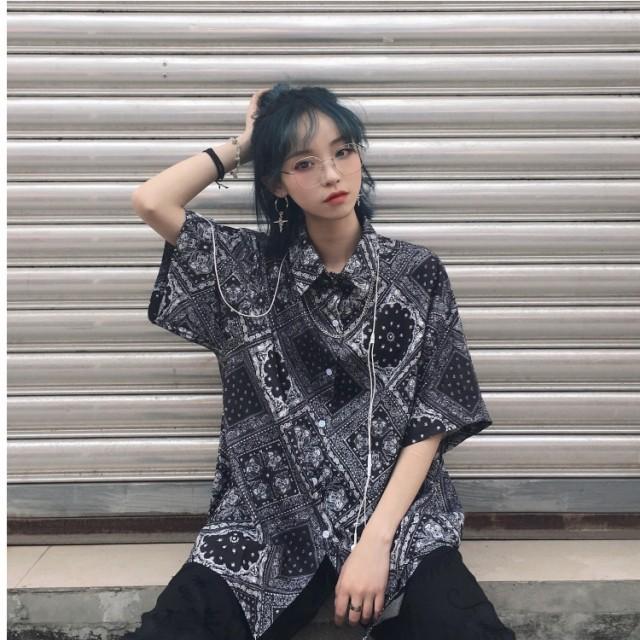 韓国 ファッション 原宿系 レディース バンダナ ...