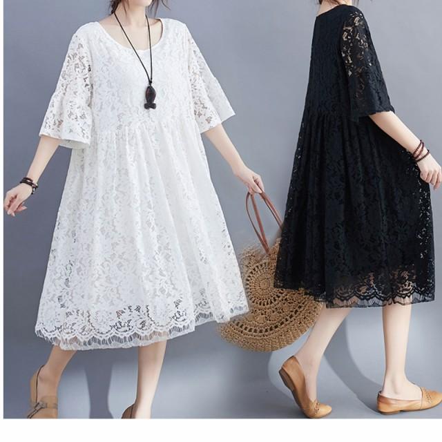 ワンピースドレス 大きいサイズ ゆったり パーデ...