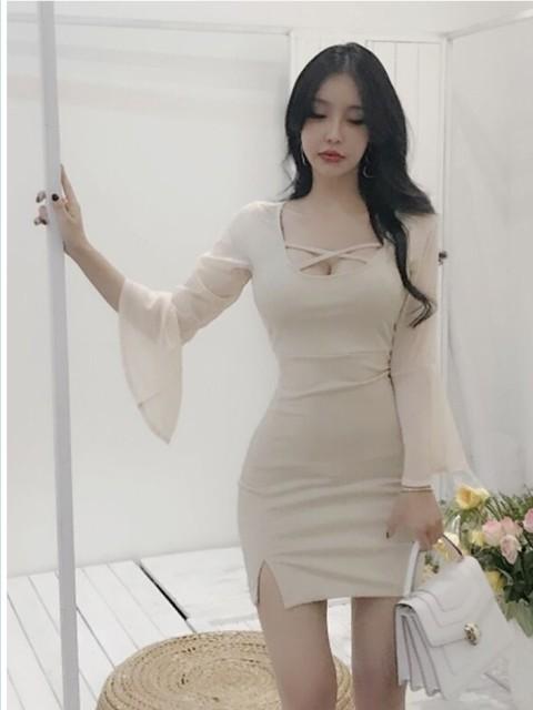 韓国 ファッション レディース ワンピース 夏 春 ...