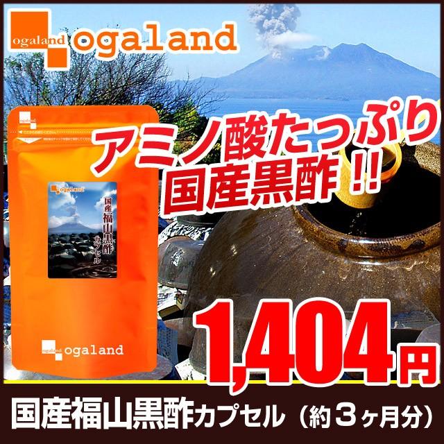 お徳用国産福山黒酢カプセル(約3ヶ月分)3150円以上送料無料 ダイエット サプリメント もろみ アミノ酸 黒酢