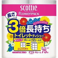 スコッティ フラワーパック 3倍長持ち ダブル(75m...