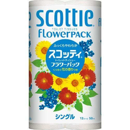 スコッティ フラワーパック シングル(12ロール)(...
