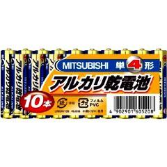 三菱 アルカリ乾電池 単4形 10本パックLR03N/10S...