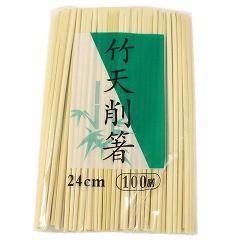 割り箸 業務用 竹 天削箸 すこし長めで使いやすい 24cm(100膳入)(発送可能時期:1週間-10日(通常))[割り箸]