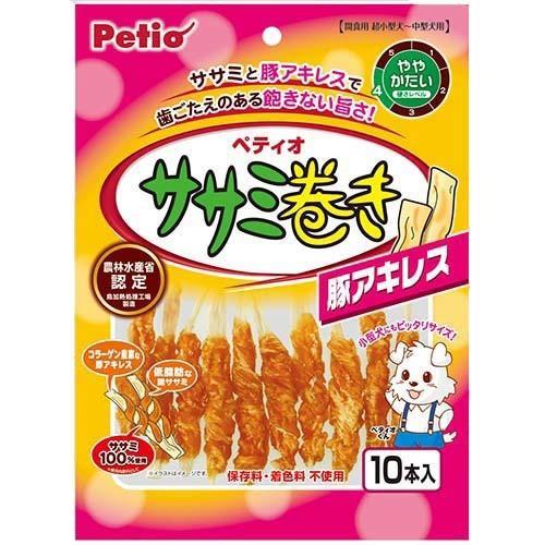 ペティオ ササミ巻き 豚アキレス(10本入)[犬のお...