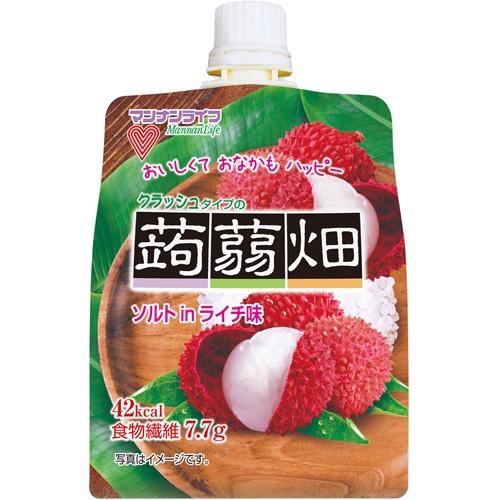 クラッシュタイプの蒟蒻畑 ソルトinライチ味(150g...