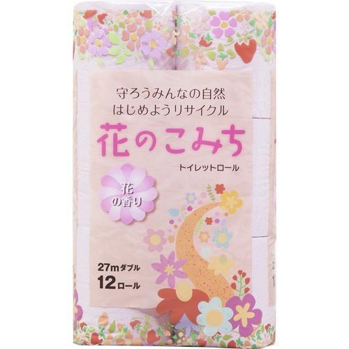 花のこみち ダブル(12ロール)[トイレットペーパー...