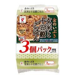 金のいぶき 玄米と十五穀ごはん JR-8(160g*3食入)...