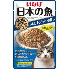 いなば 日本の魚パウチ 焼かつお入り いわし まぐ...