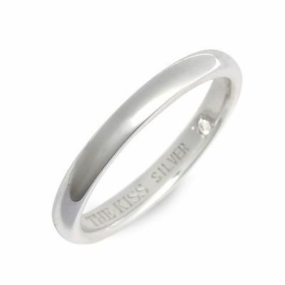 送料無料 THE KISS シルバー リング 指輪 ダイヤ...