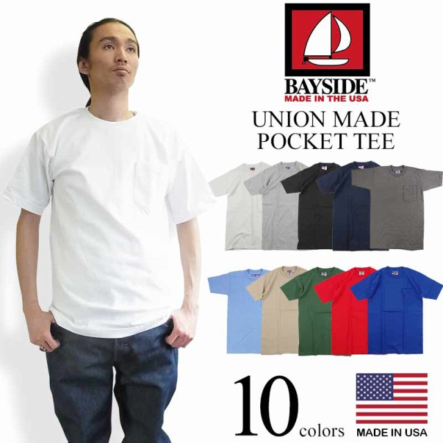 ベイサイド BAYSIDE 半袖 ポケット Tシャツ ユニ...