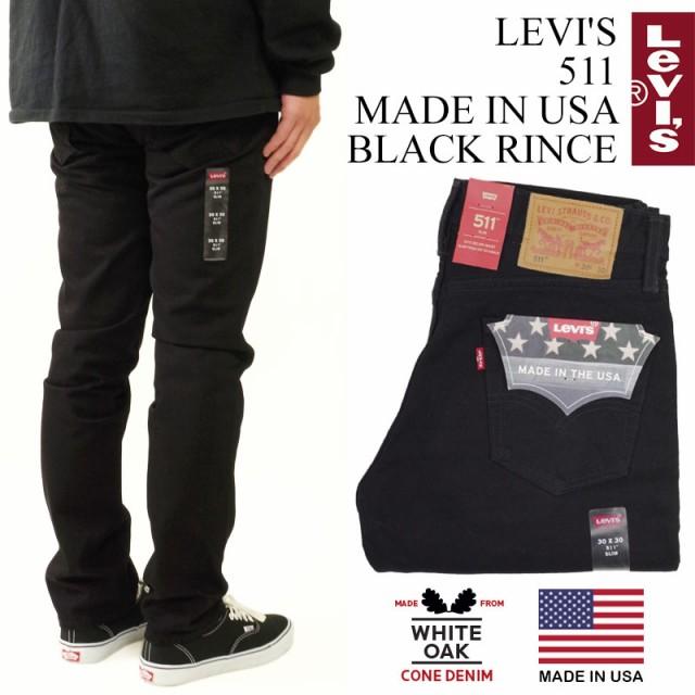 リーバイス LEVI'S 511 MADE IN USA ブラックリン...