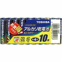 【東芝 アルカリ単4電池10本パック LR03L10MP】※...