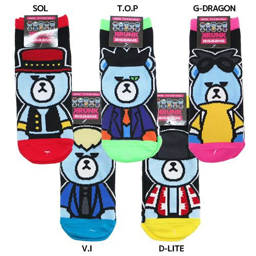 KRUNK × BIGBANG 女性用靴下 レディースソックス...
