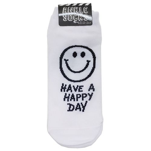 HAVE A HAPPY DAY 男女兼用靴下 アンクルソックス...