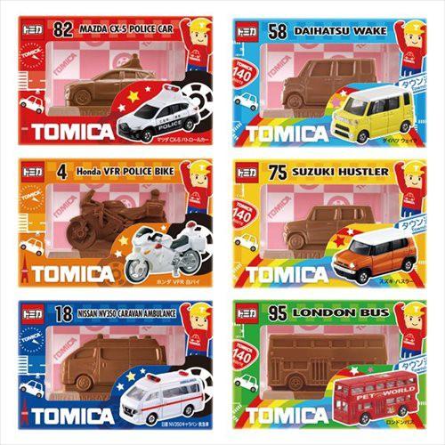 トミカ お菓子 チョコレート 立体フィギュアチョ...