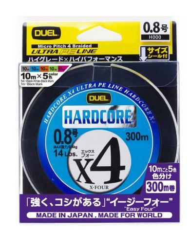●デュエル DUEL ハードコアX4 300M 5色マーキン...