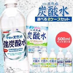 【送料無料】サンガリア 炭酸水 500mlペットボト...