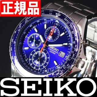 逆輸入 セイコー 腕時計 パイロットクロノグラフ ...