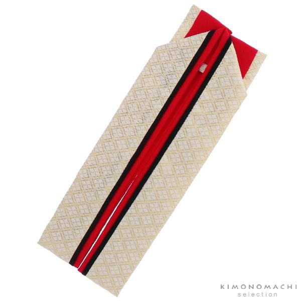 振袖向け 重ね衿「赤×黒×白金菱格子」振袖小物 ...