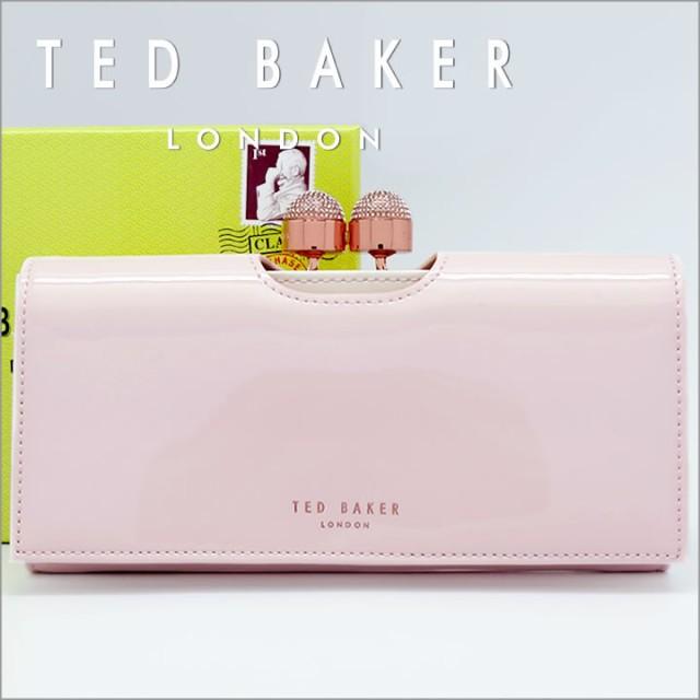3b1f1639baa3 テッドベーカー 長財布 TED BAKER がま口財布 テッドベイカー レディース ペールピンク×ホワイト SHIRLY 140793