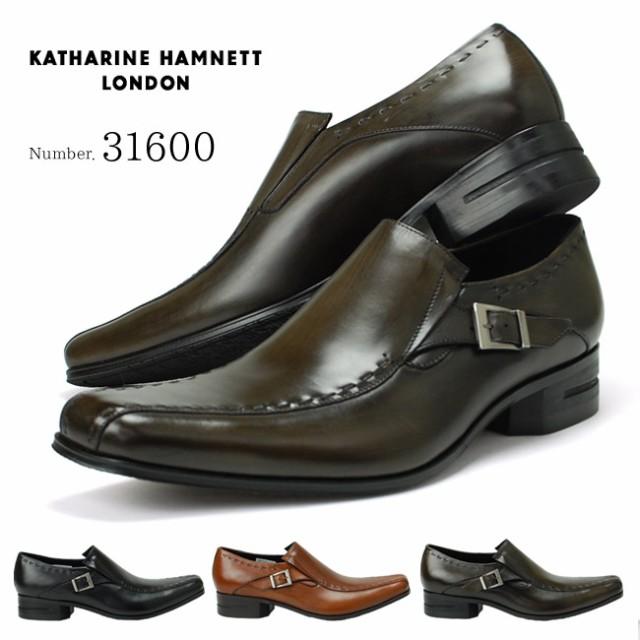 229d158a06fe4 キャサリンハムネット 31600 靴 紳士靴 KATHARINE HAMNETT メンズビジネスシューズ スワールモカ スリッポン