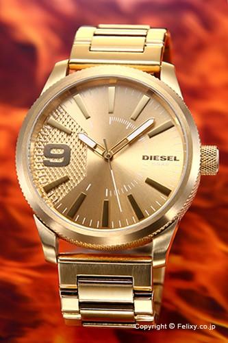 ディーゼル 腕時計 DIESEL ラスプ オールゴールド...