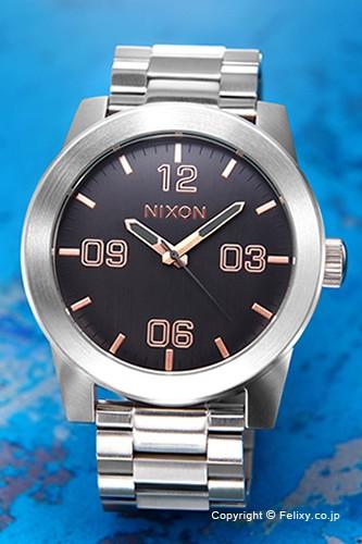 ニクソン NIXON 腕時計 コーポラル SS グレー/ロ...