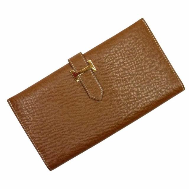 【おすすめ】【中古】エルメス 二つ折り長財布  ...